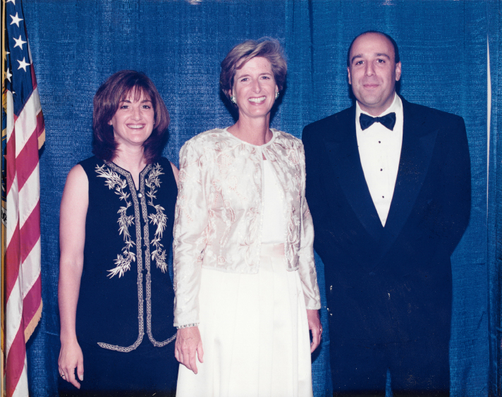 Alan and Holland with Governor Whitman following successful campaign