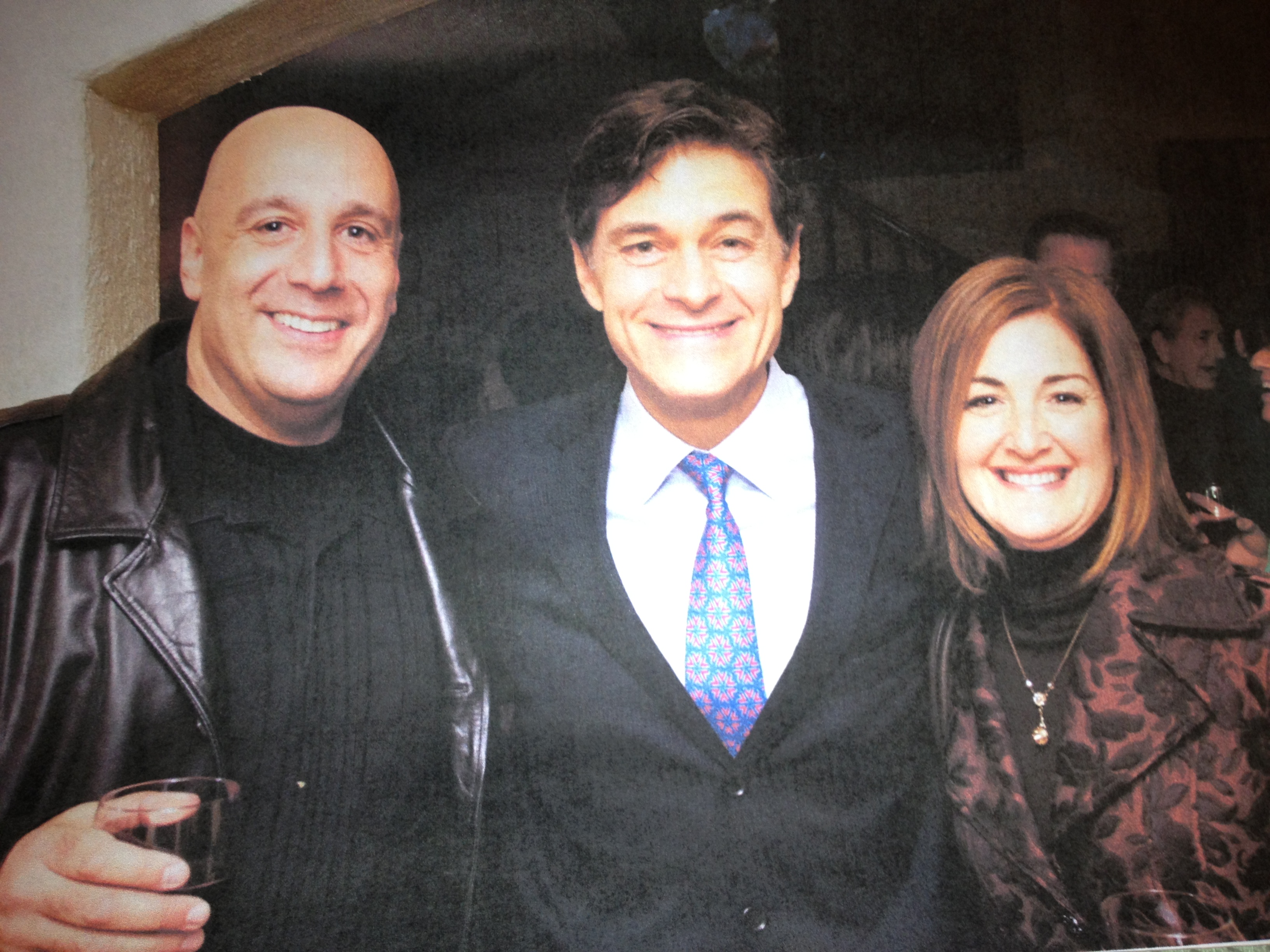 Alan and Holland with Dr. Oz after premiere of hospice video