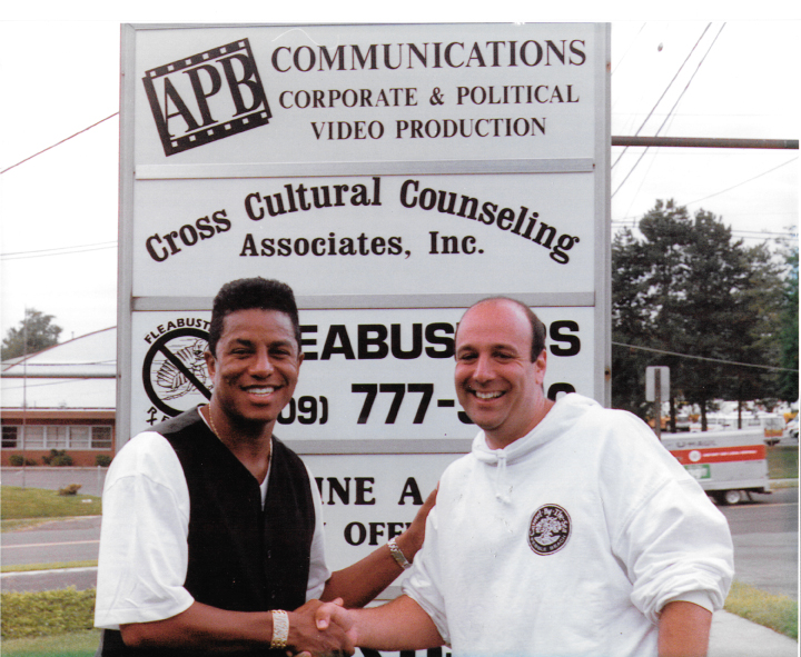 With Jermaine Jackson when we were APB Communications